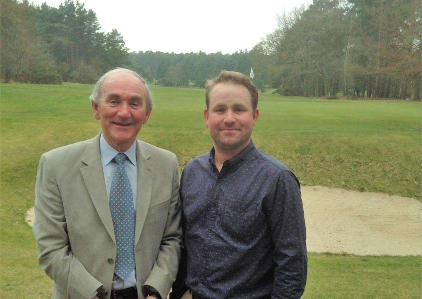 RUNNERS-UP: Alan and Paul Maddy, who were runners-up at the Thetford Pro-Am Picture: Malcolm Grubb