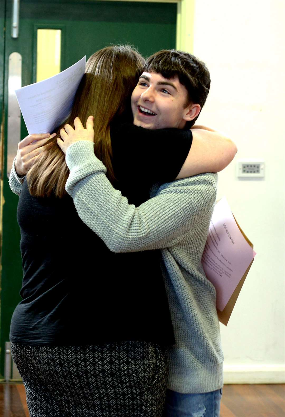 Students at St Benedicts RC Upper School receive their GCSE results.PICTURE: Andy Abbott (15600472)