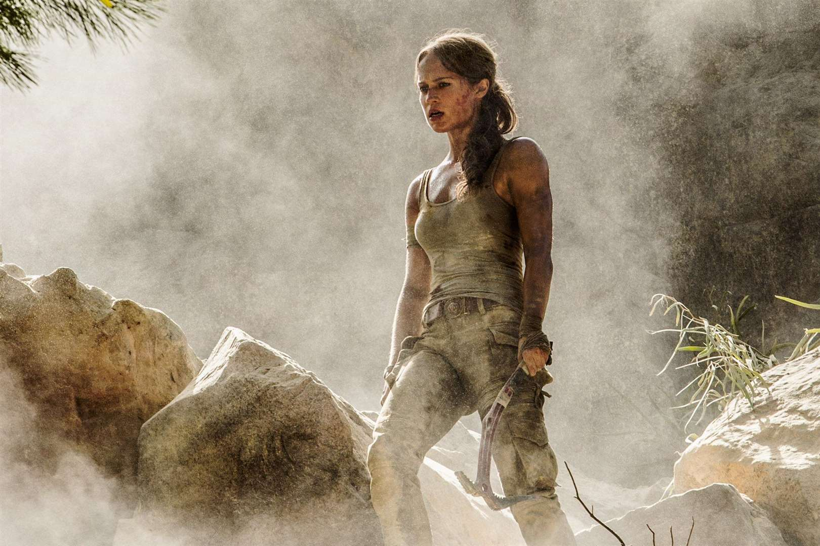 Alicia Vikander as Lara Croft in Tomb Raider, directed by Roar Uthaug.