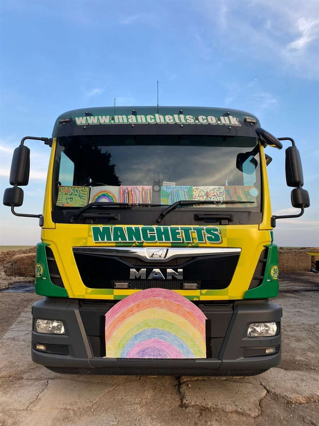 Manchetts Recovery Service trucks drove in a convoy through Burwell to celebrate all of the key workers in the village (33977079)