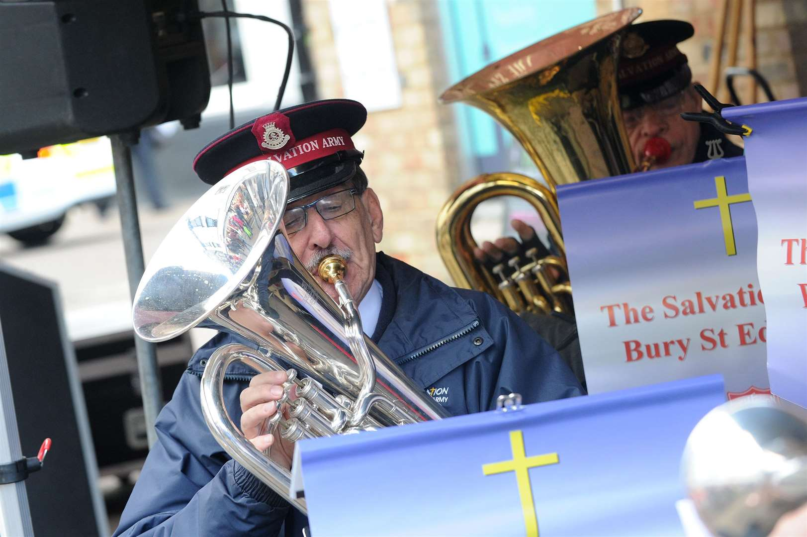 Bury St Edmunds Christmas Fayre 2018. Pictured: The Salvation Army of Bury St Edmunds. Picture: Mecha Morton