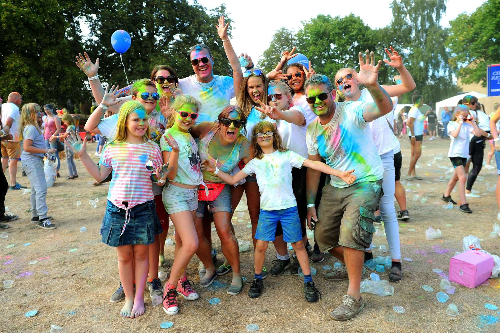 Families and friends of all ages enjoyed the colourful atmosphere of the day PICTURE: Mecha Morton