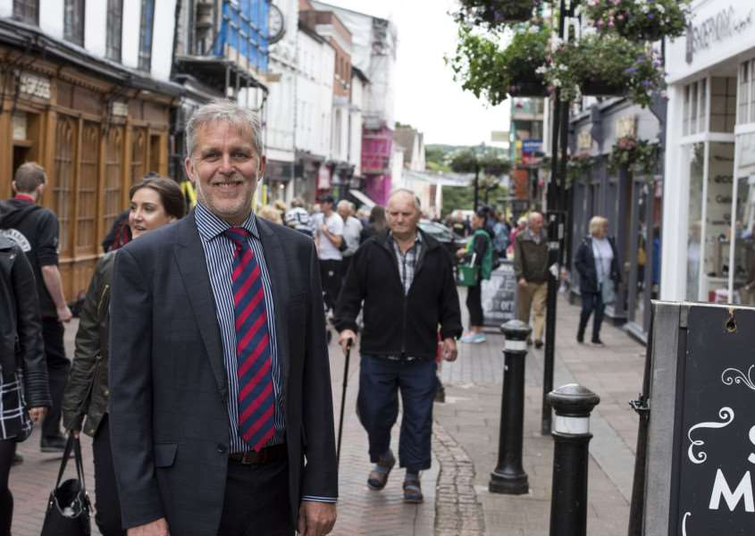 Mark Cordell in Abbeygate Street which has recorded record footfall. 'Picture: Mark Westley