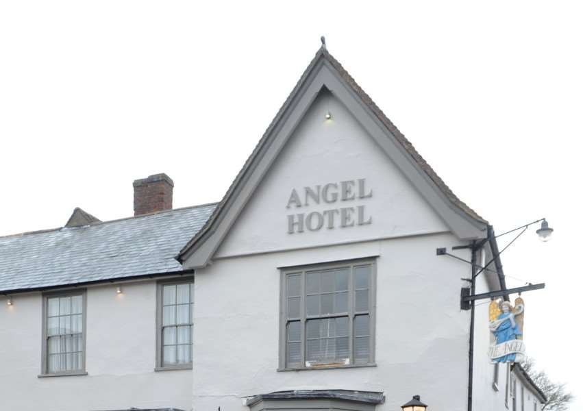 The Angel Hotel, in Lavenhma