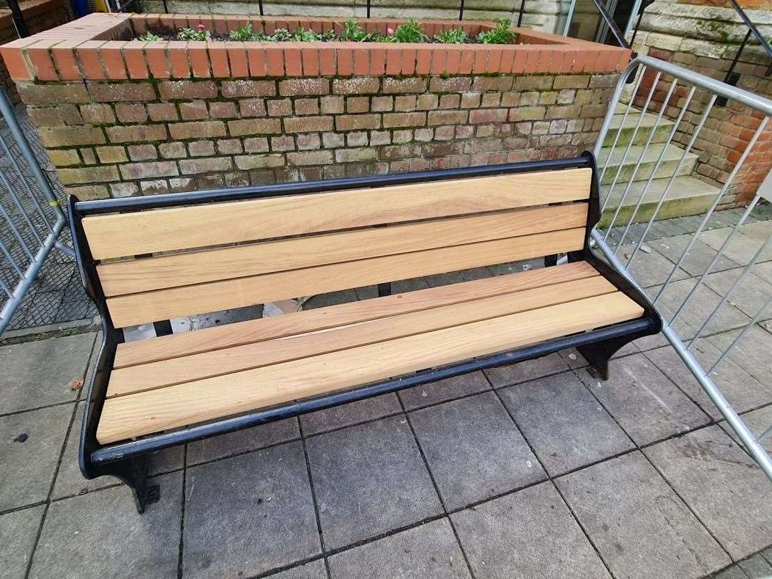 One of the new-look benches in Haverhill town centre. Submitted photo