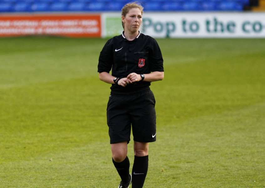 ON THE UP: Abi Marriott will be officiating in Bosnia and Herzegovina for the UEFA European Women's Under-19s Championship Qualifiers. Picture: Suffolk FA