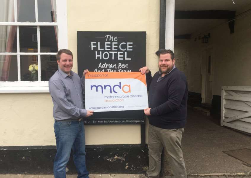The Fleece in Boxford is hoping to raise �1,000 for the Motor Neurone Disease Association by holding a Black Tie Fundraising Event