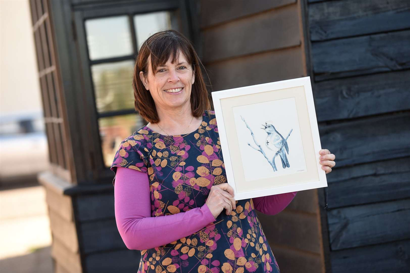 Physiotherapist Julie Iveson, has had to shut her clinic in Long Melford due to Covid 19 lock down. She has since created an artistic tribute to the NHS and Nightingale hospitals in recognition of medical workers...PICTURE: Mecha Morton .... (33837377)
