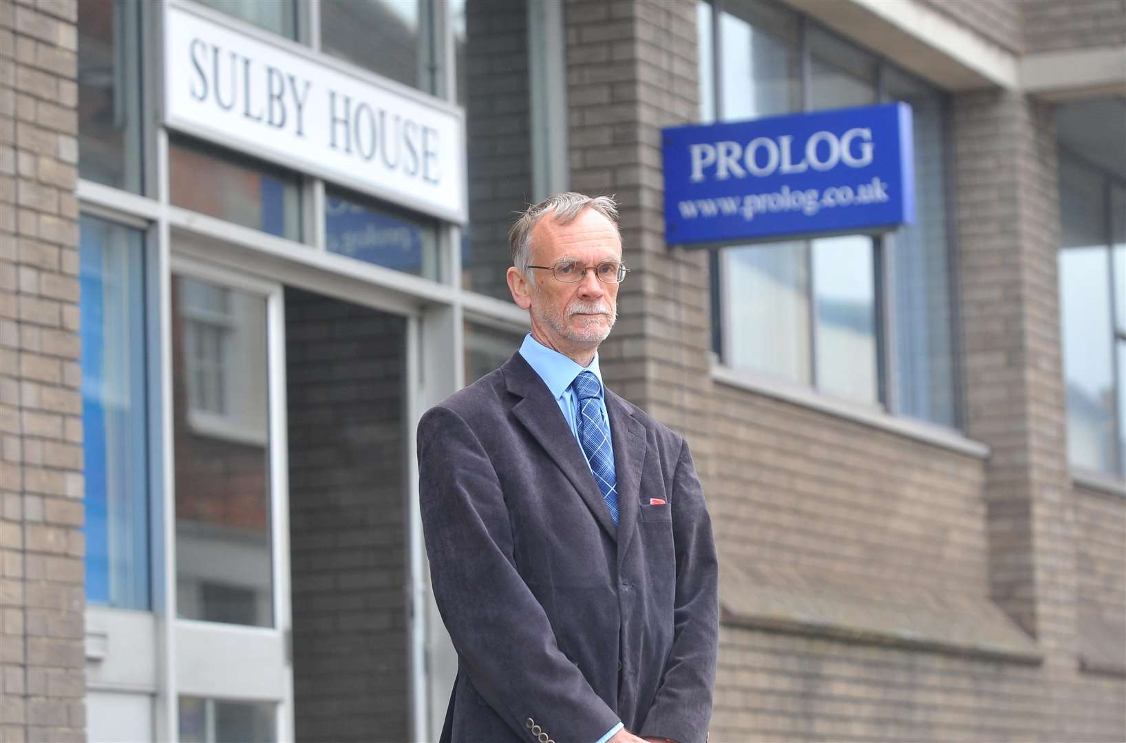 Sudbury Chamber of Commerce chairman John McMillan outside the former Prolog offices at Sulby House in North Street. (5683424)