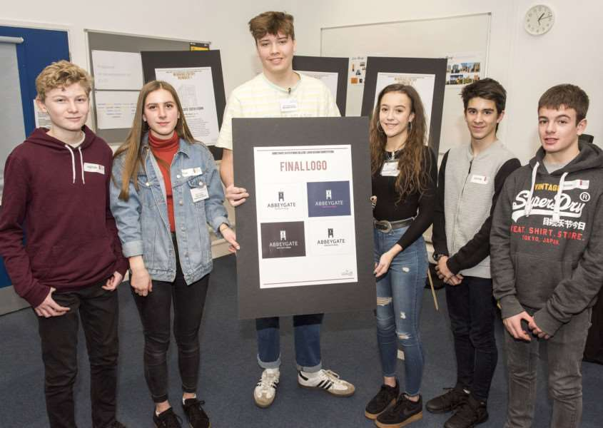 Students have helped to design the logo for the new Abbeygate Sixth Form, which opens in Bury St Edmunds in September 2019 Picture Mark Westley