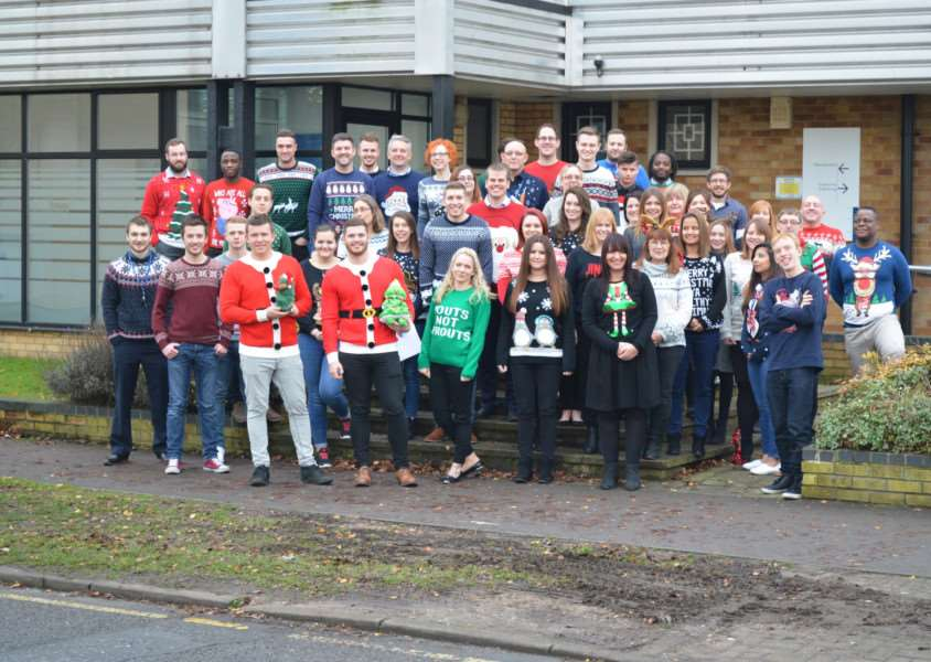 Staff at Servest take part in Christmas Jumper Day ANL-161221-135447001