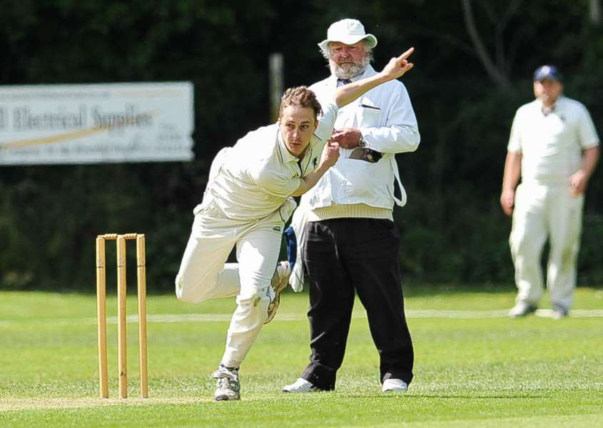 Joe Woodley bowling for Haverhill