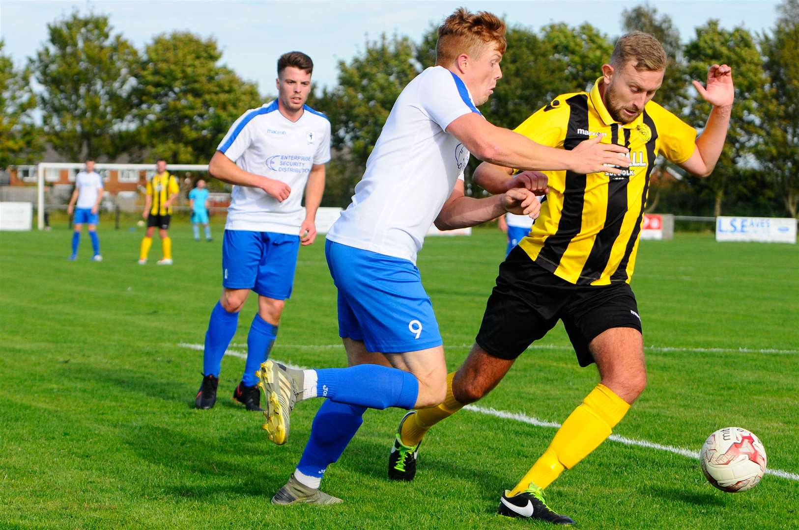 Debenham, Suffolk, 05/09/2020..Football action from Debenham LC vs Fakenham Town FC - Matt Aldis..Picture: Mark Bullimore Photography. (41983239)
