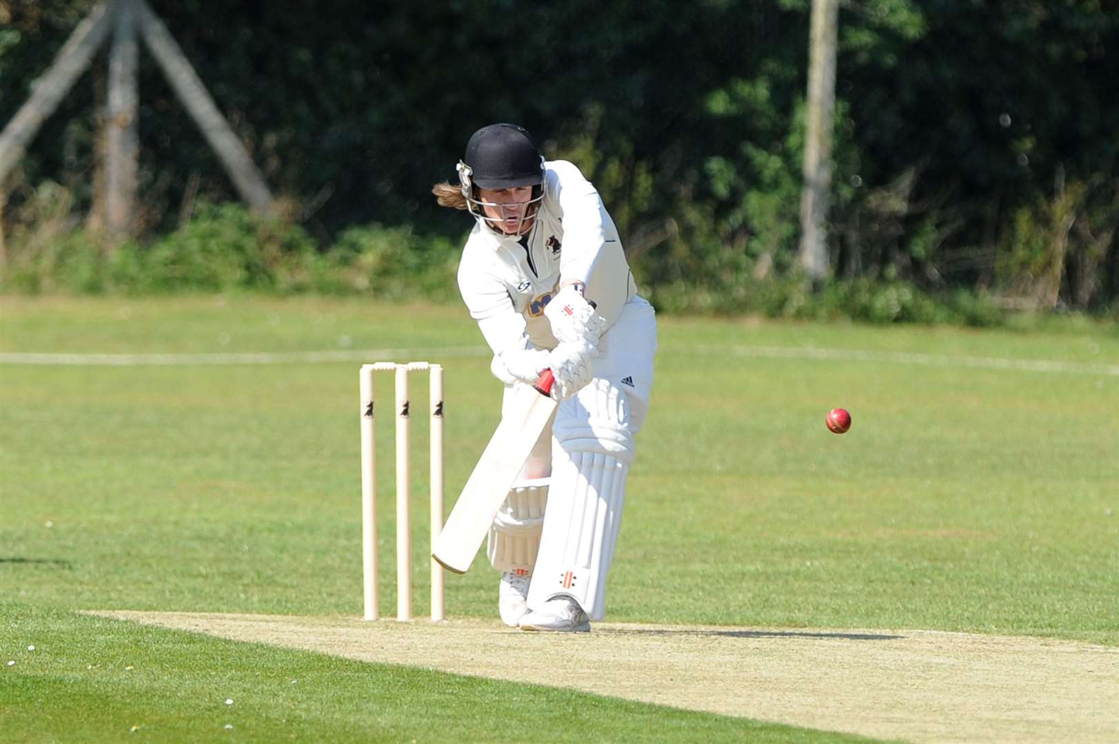 CRICKET - Haverhill (Batting) v Ipswich...Pictured: Adam Dellar ...PICTURE: Mecha Morton.... (12169436)