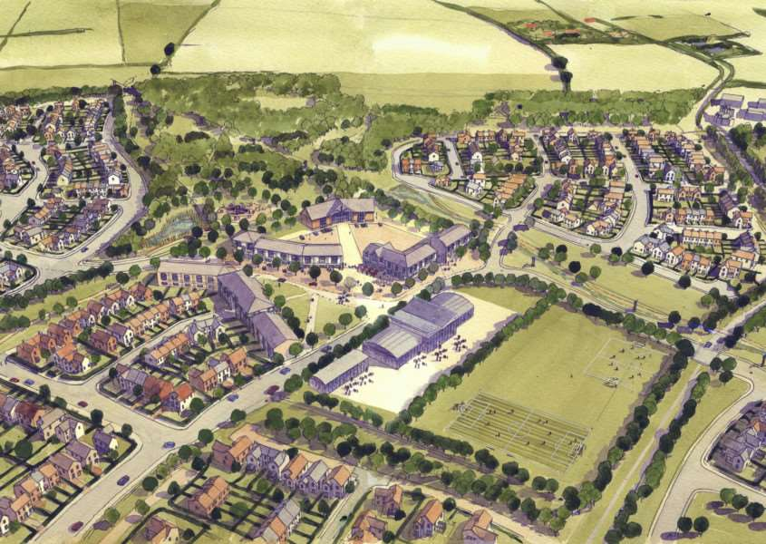 Artist's impression of the 1,250-home Chilton Woods development