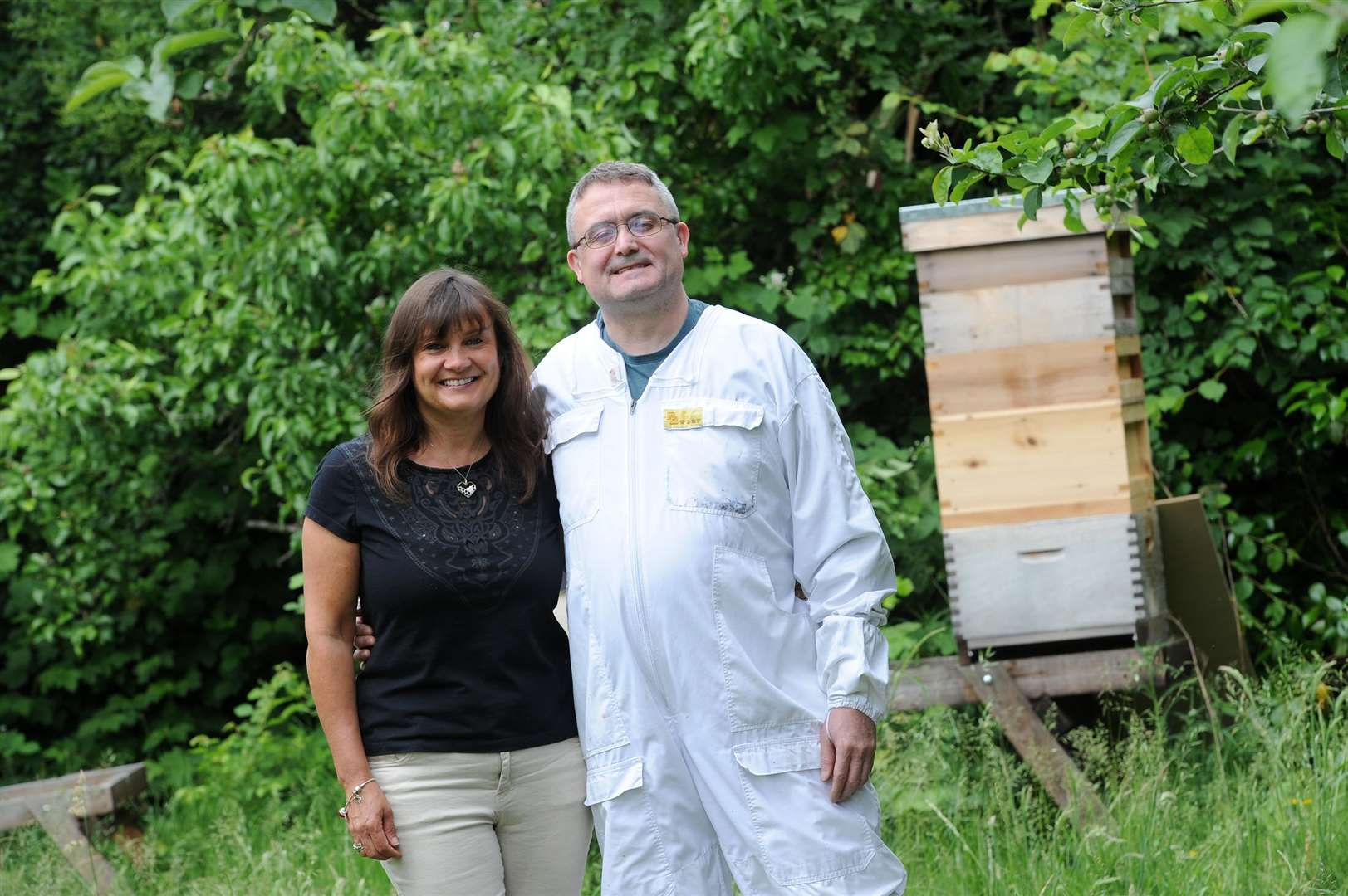 Kevin and Julie Thorn of Great Cornard, are expanding their beekeeping business, Stour Valley Apiaries.... PICTURE: Mecha Morton. .. (2406357)