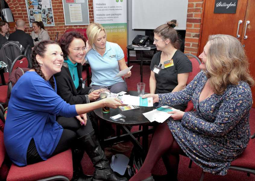 Women's networking group at the Quay Theatre ANL-171001-173018001