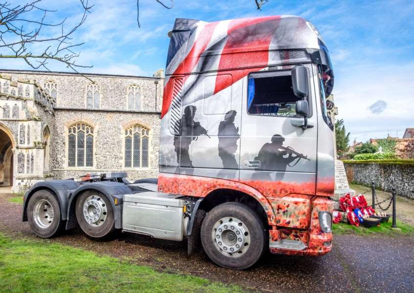 The Royal British Legion's Poppy Truck