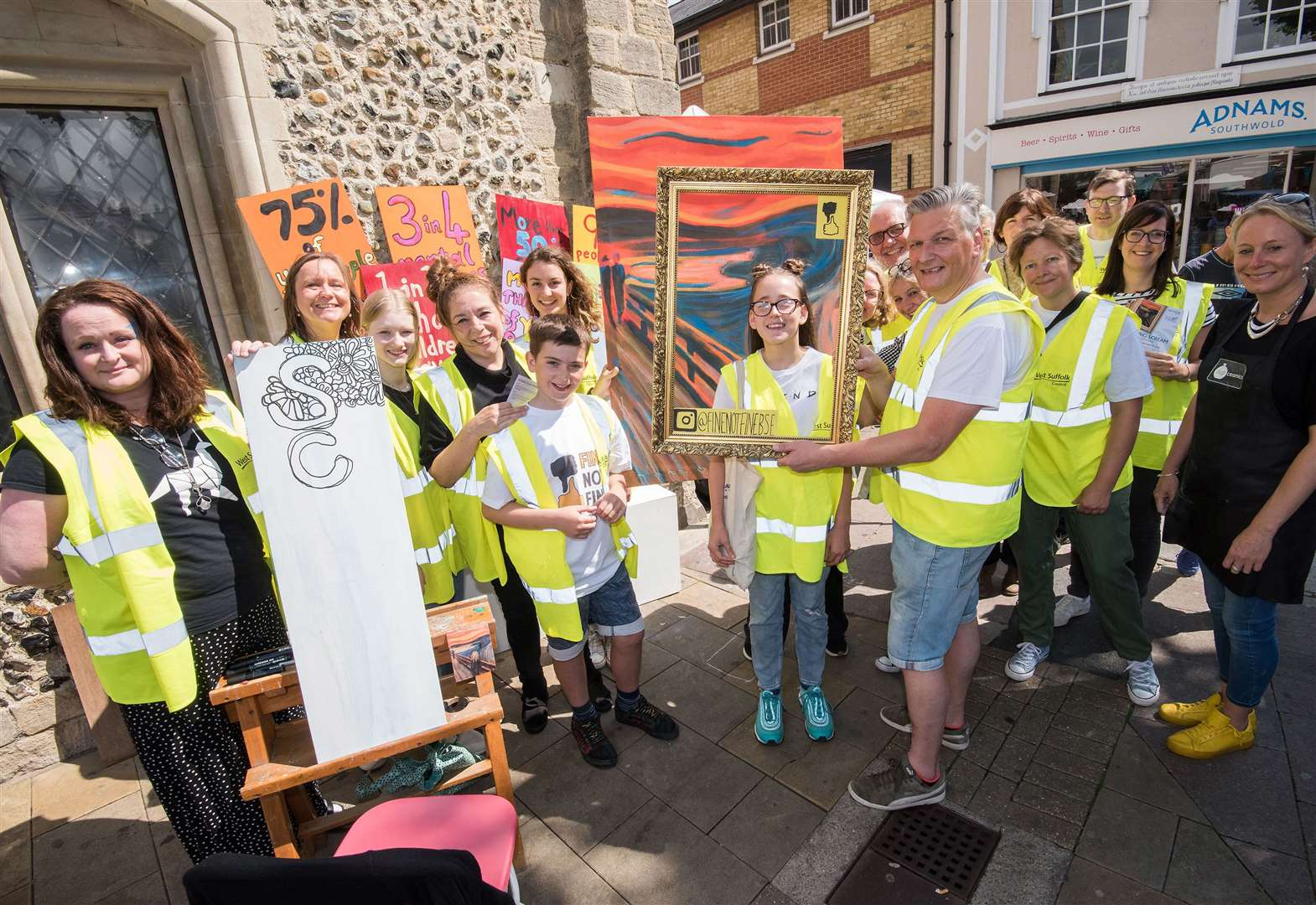 Bury St Edmunds takes part in mental health project to focus on young people