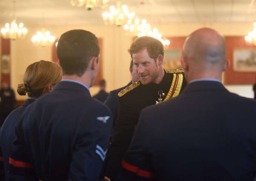 HRH Prince Henry of Wales meeting personnel at RAF Honington. Picture: Ian Burt