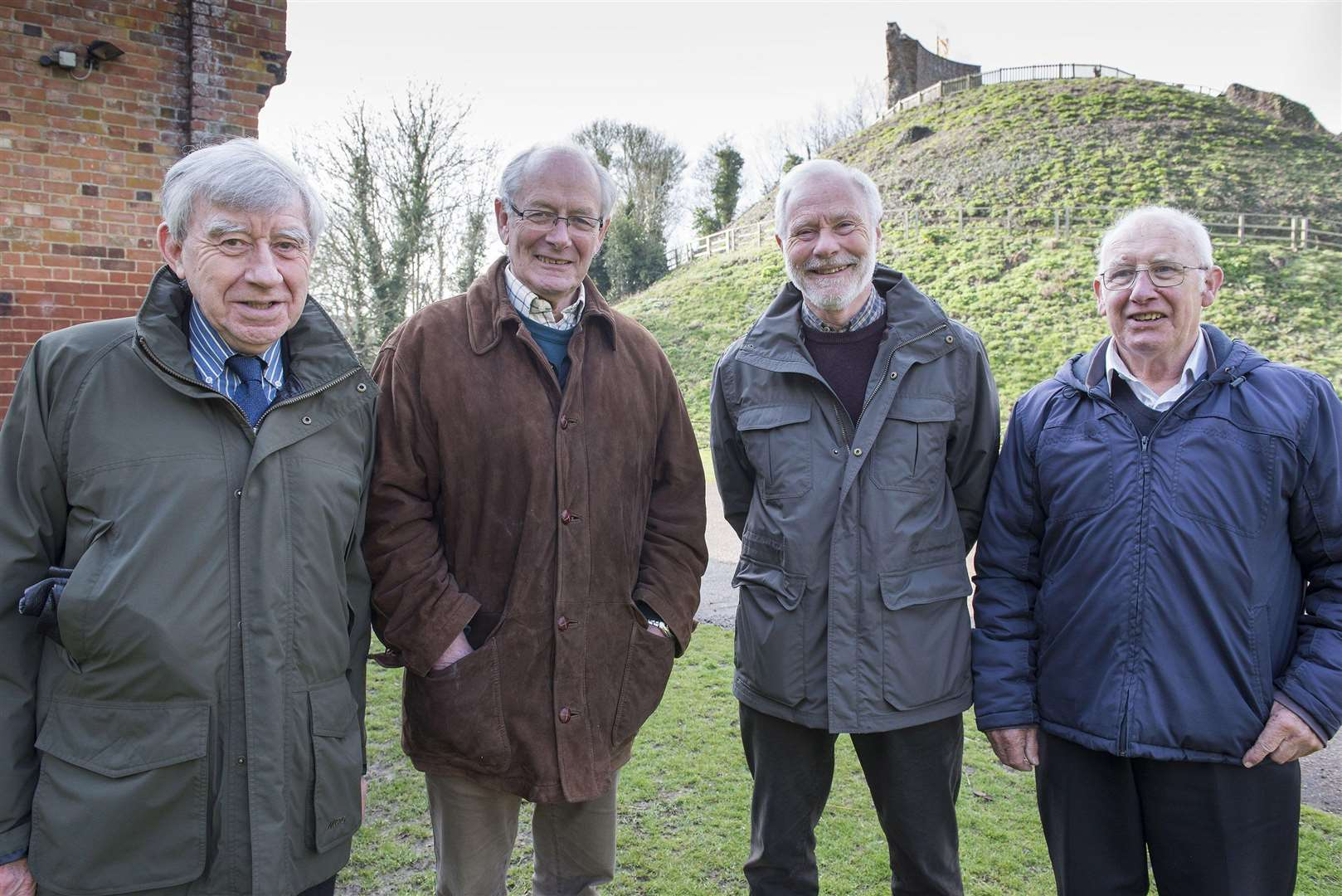CLARE: £1.5m grant..Clare Castle Country Park has been awarded a £1.5 million grant from the Heritage Lottery Fund, which will finance a wide range of projects...Clare Castle Country Park trustees Derek Blake, Richard Smith vice chairman Gregory Bray chairman, Derek Blake and Keith Mison...Picture Mark Westley. (3975199)