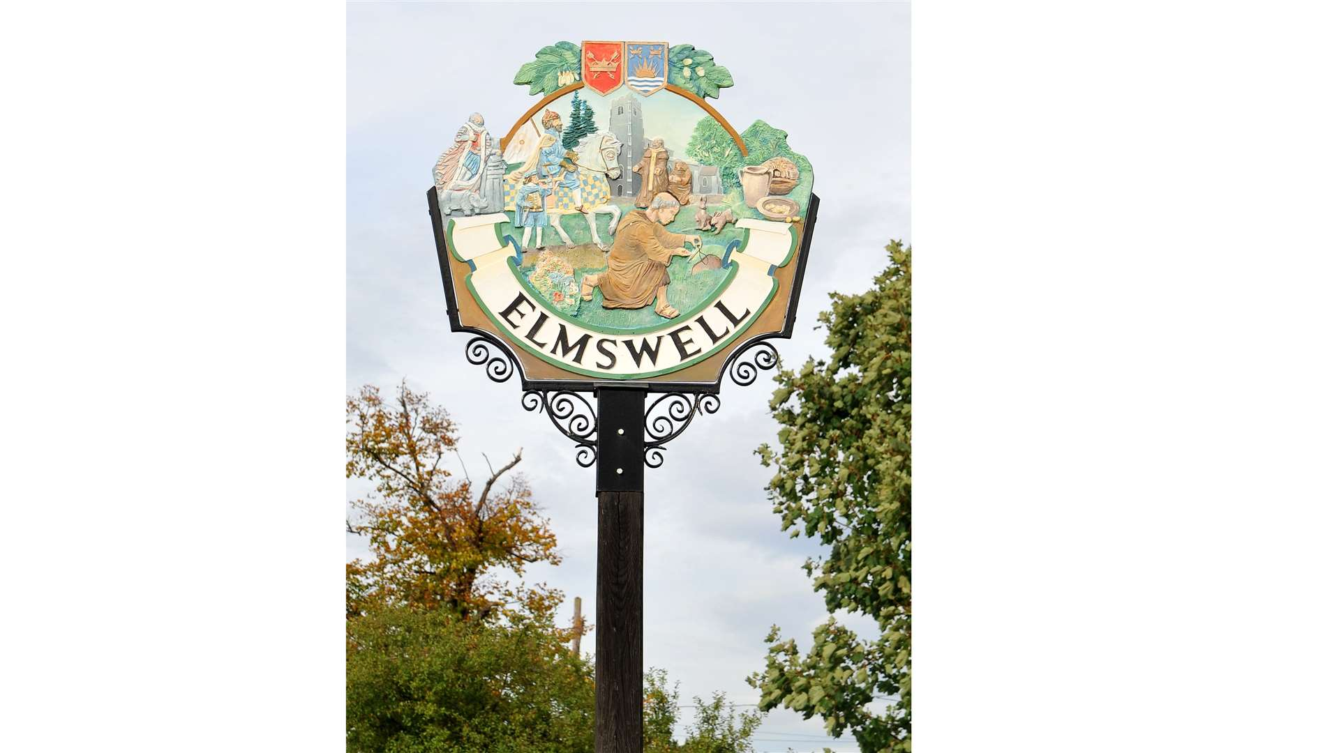 Elmswell village sign. (34923062)