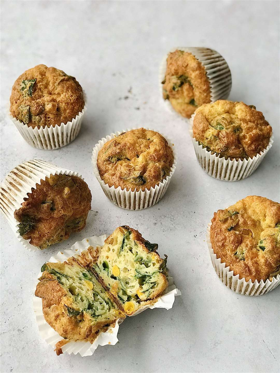 Cheese Muffins with Sweetcorn and Spinach. Picture: The Easy Peasy Baking Campaign (32212361)