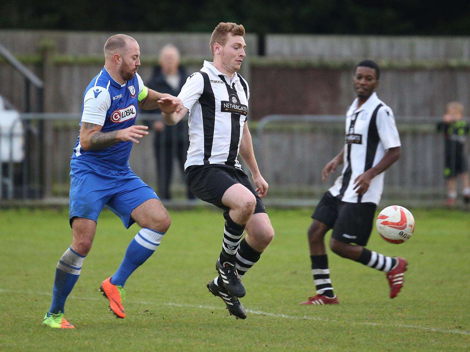 HOME LOSS: Melford (black and white) lost at home to Coggeshall. Picture: Richard Marsham