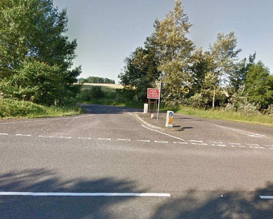 The A1088 - where the incident happened (Google Maps) (13944799)