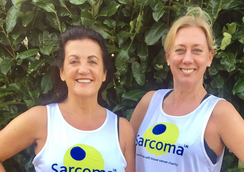Gina Long and Lisa Lumley are running the London Marathon for Sarcoma UK