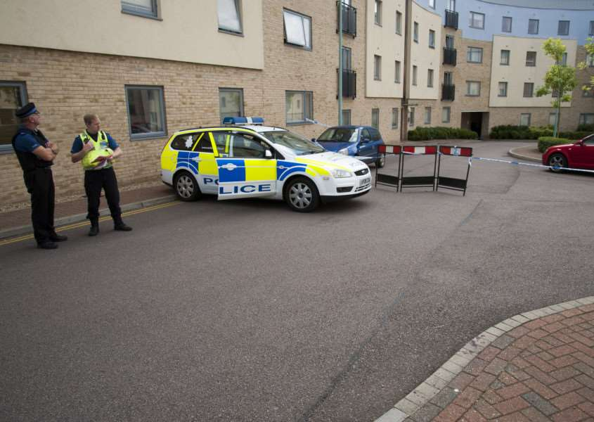 Shooting in Bury St Edmunds in flats on Station Hill.'Picture Mark Westley ANL-150508-101952009