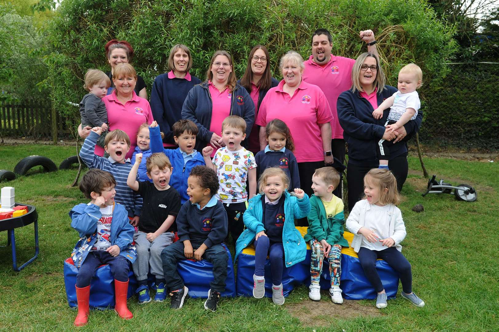 Everyone at Happy Days Childcare in Stradishall is pleased with its new Ofsted report. Picture by Mecha Morton.