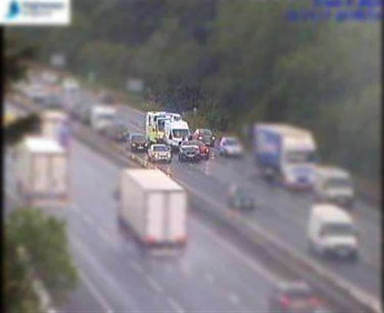 A14 crash near Newmarket causes rush hour delays