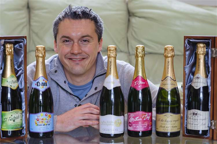 Didier Penine from Cockfield who has launched Say It With Champers which is a gift site where you can personalise your champagne gift.. .Picture: Mark Bullimore Photography. (7830732)