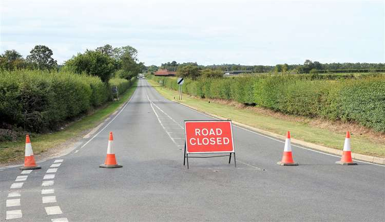 Dullingham Road, Newmarket, closed by police after 'serious