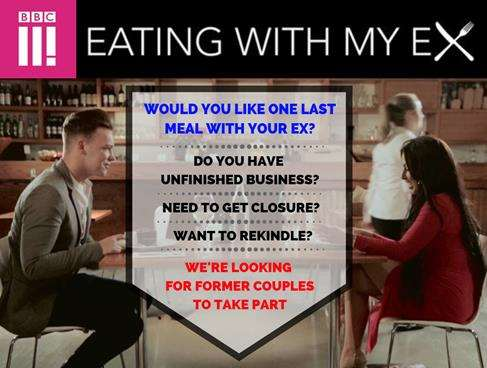 BBC Three show 'Eating with my Ex' (4104826)