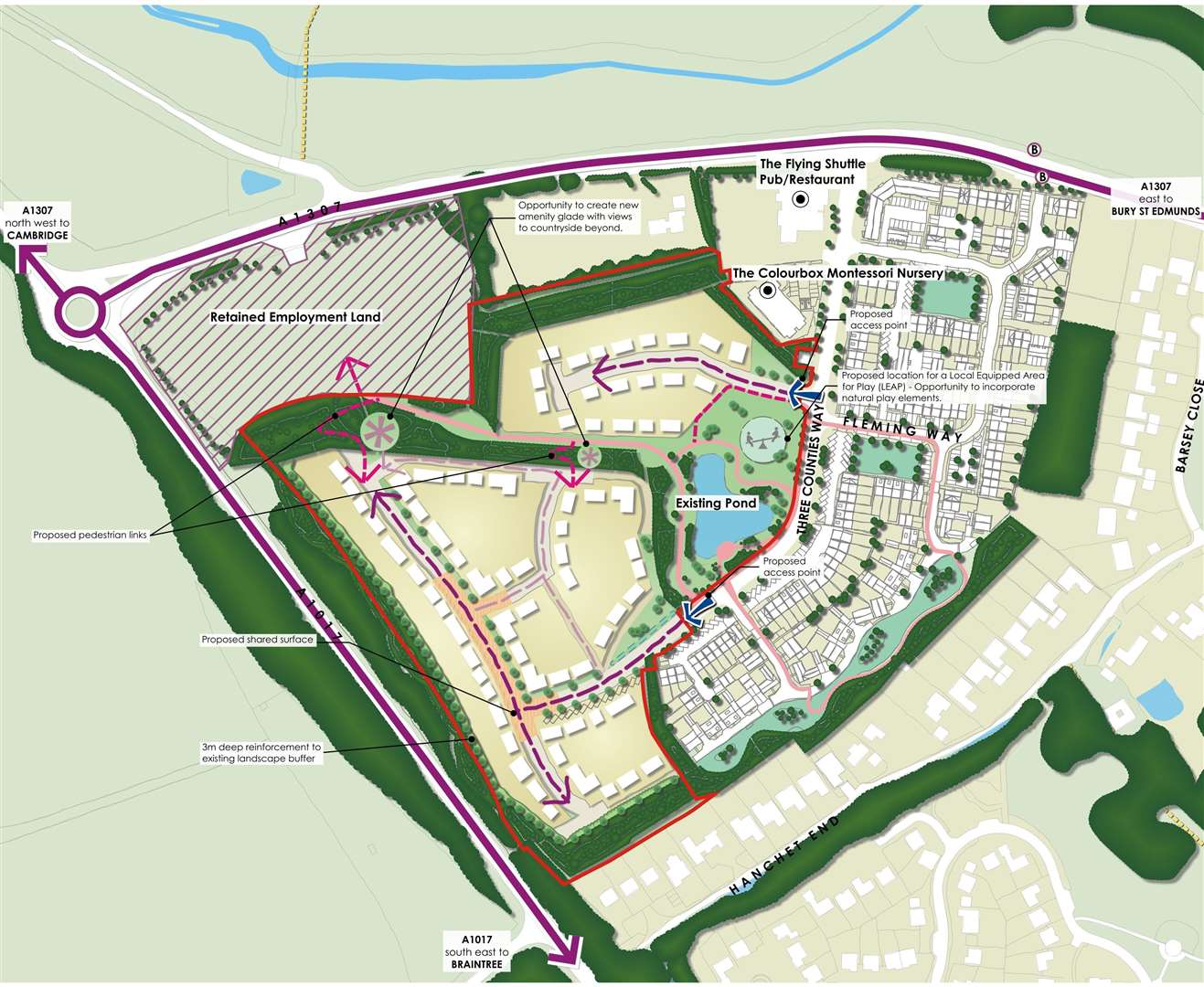 The layout of Haverhill Research Park. Submitted image