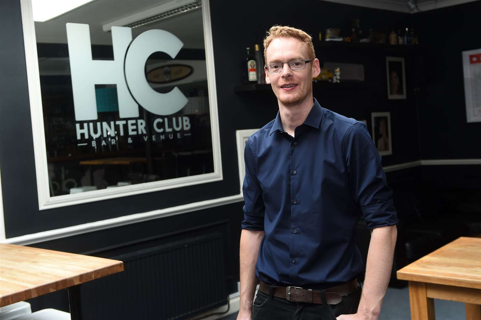 Owner and manager Nick Pooley inside The Hunter Club	Picture by Mecha Morton