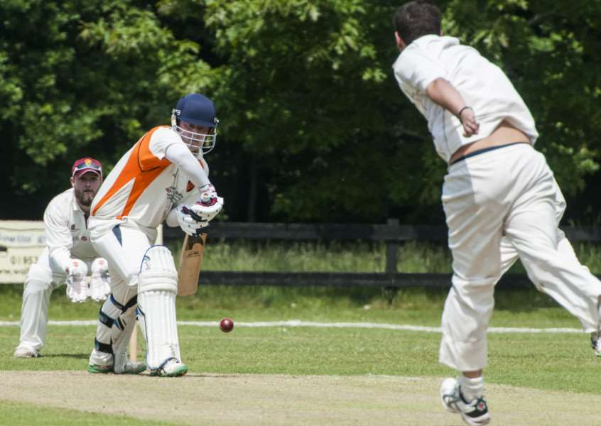 CENTURION: Diss' Robert Tooke scored 100 runs in his side's win over Old Buckenham. Picture: Al Pulford