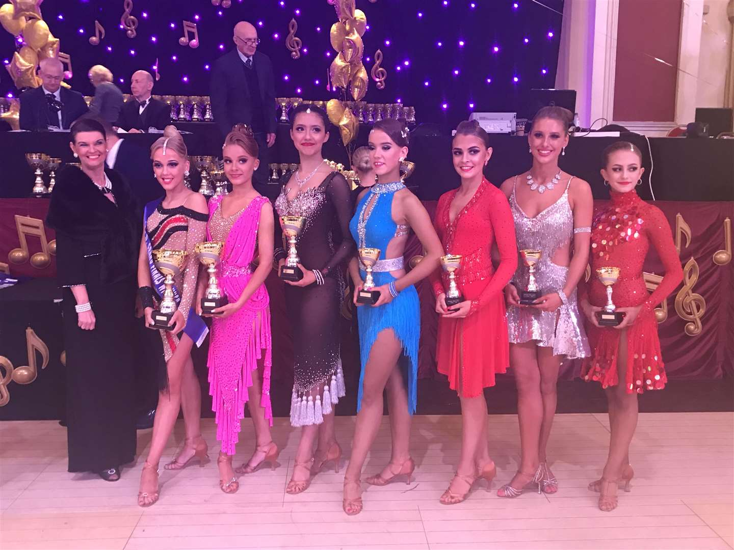Grace Claydon-Smith, second left, after winning the ISTD National U-16 Latin dance championship (5238301)