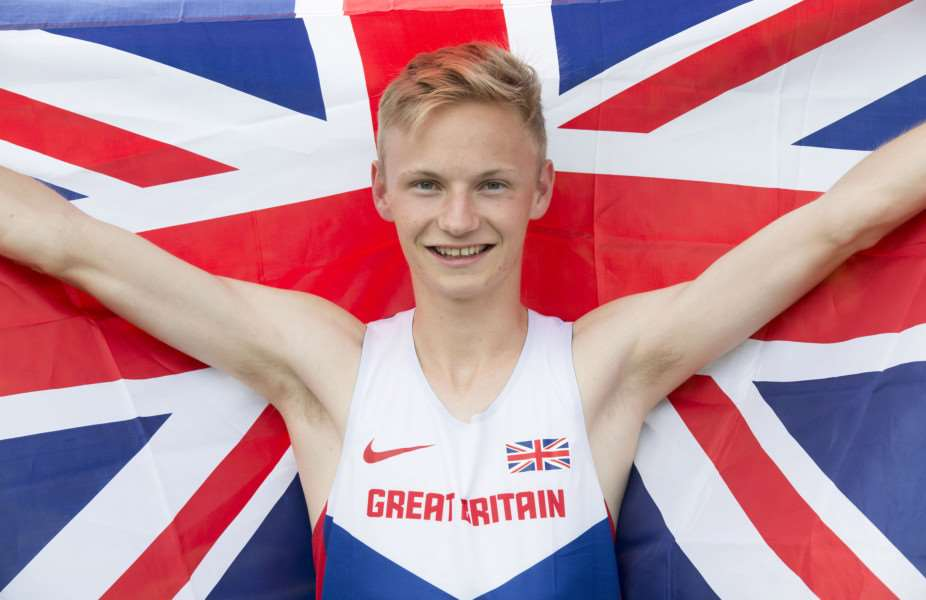 Race Walker Callum Wilkinson set a new national junior record at the Euro Junior Champs in Sweden.'Picture Mark Westley ANL-150721-204844009