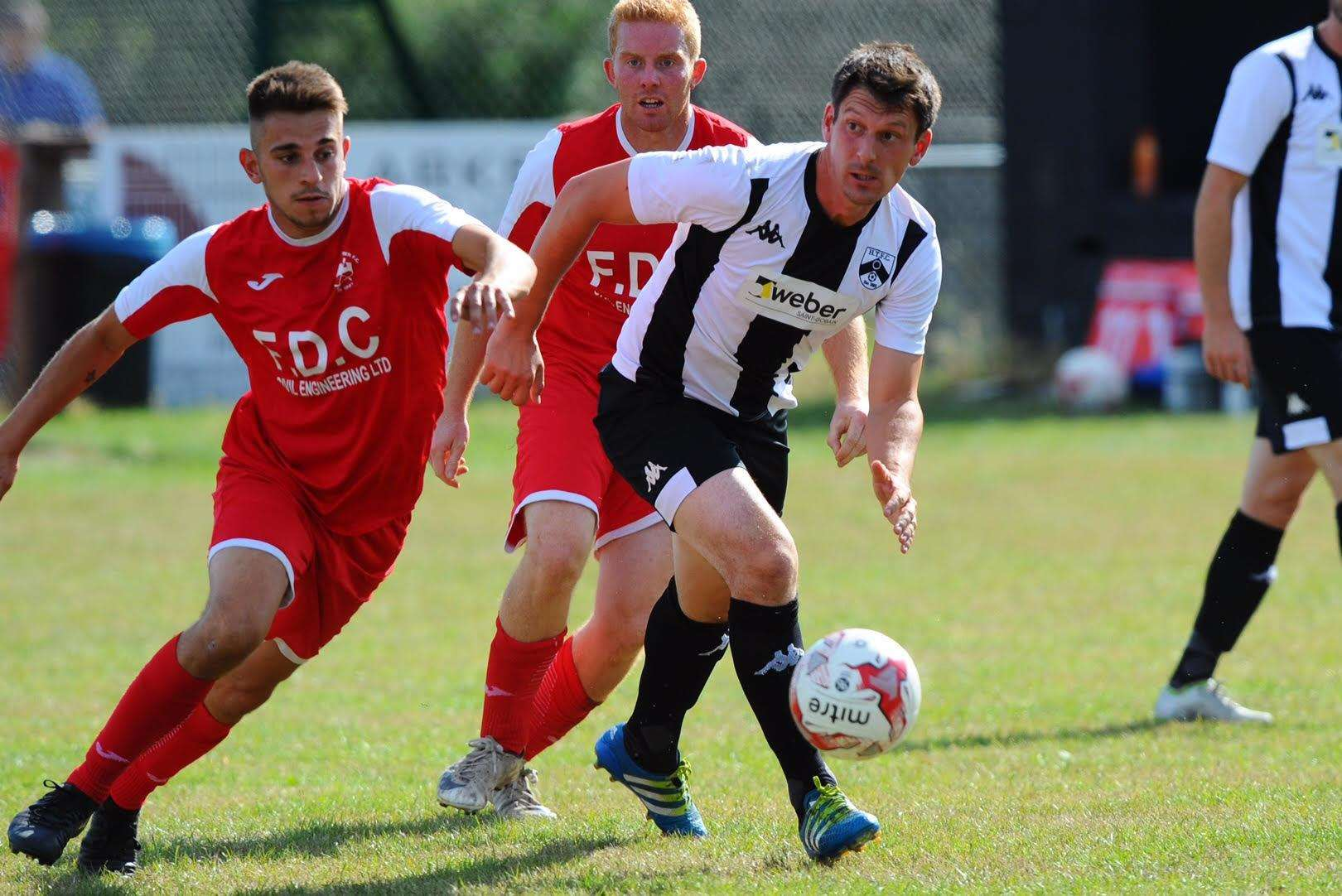 HOME WIN: Mark Shadrack featured in Harleston's 5-1 triumph. Picture: Mark Bullimore