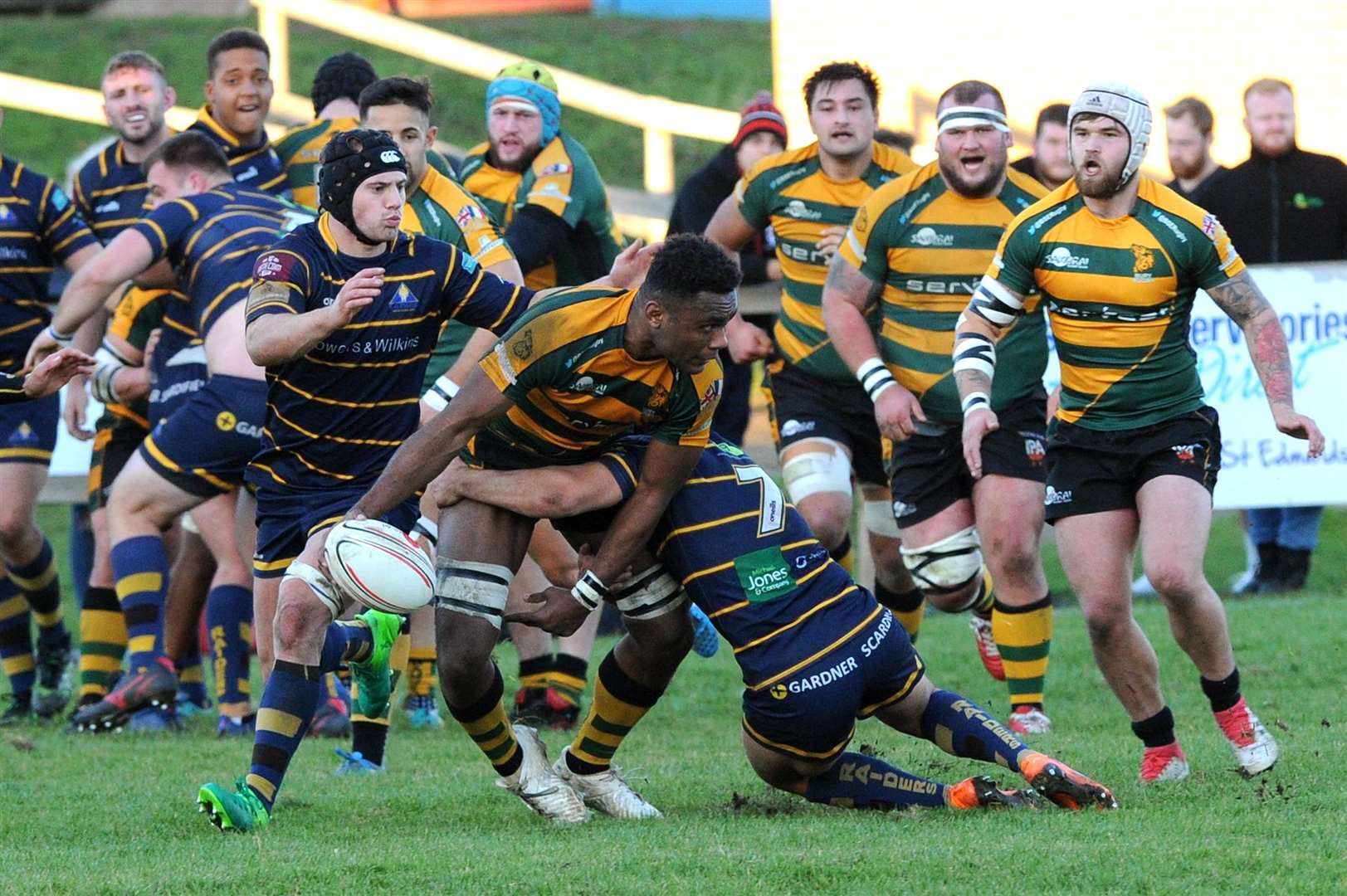 RUGBY - Bury St Edmunds v Worthing Raiders...Pictured: Tuidriva Uru....PICTURE: Mecha Morton... .. (5191883)