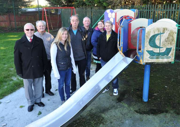 The priors estate action group are working with St Edmundsbury Council to refurbish the old play area on the Priors estate''Pictured: The Priors Estate Action Group ANL-141230-130918009
