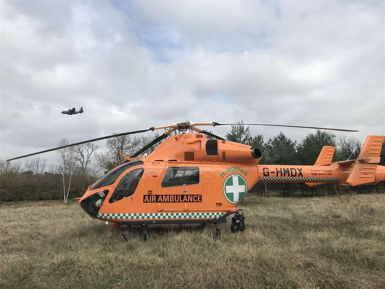 Magpas air ambulance called to Mildenhall to treat man who