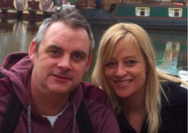Simon Dobbin, from Mildenhalll, was left brain damaged after being attacked in Southend. Pictured with wife Nicole. ANL-150325-145827001