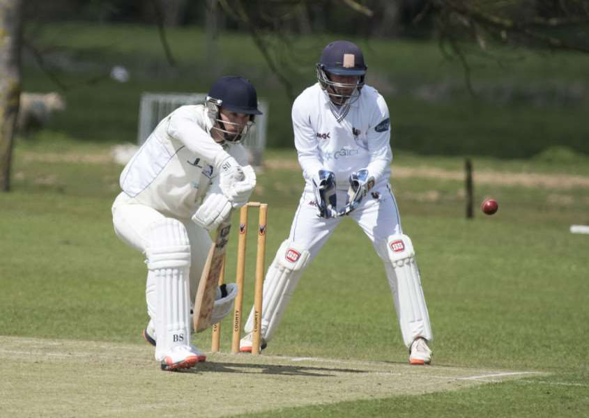 DISAPPOINTING DEFEAT: Action from Worlington's six-wicket loss to visiting Coggeshall on Saturday
