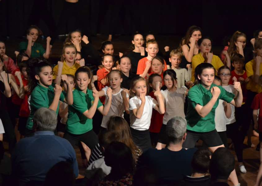 Pupils from the Bury St Edmunds All-Through Trust took to the stage for this year's Evening of Dance ANL-160425-125750001