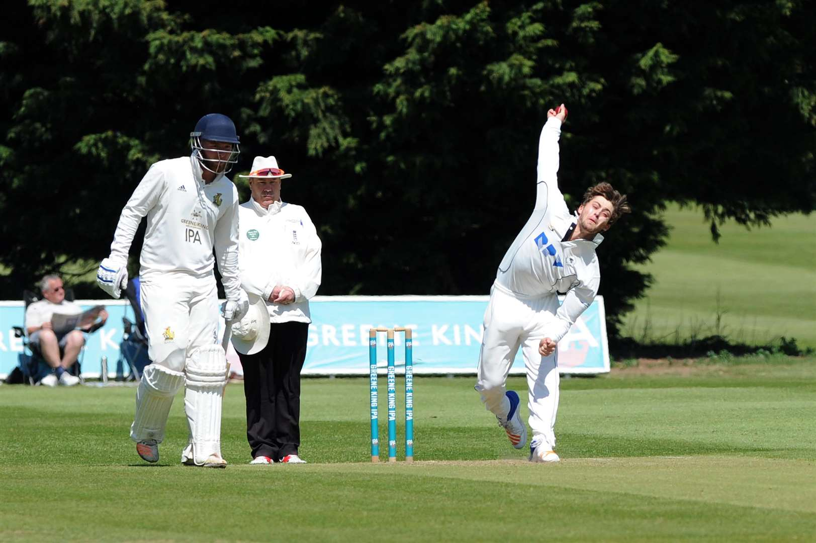 CRICKET - Bury (Batting) v Mildenhall (Bowling)..Pictured: J. Stanatis ....PICTURE: Mecha Morton.. (2187487)