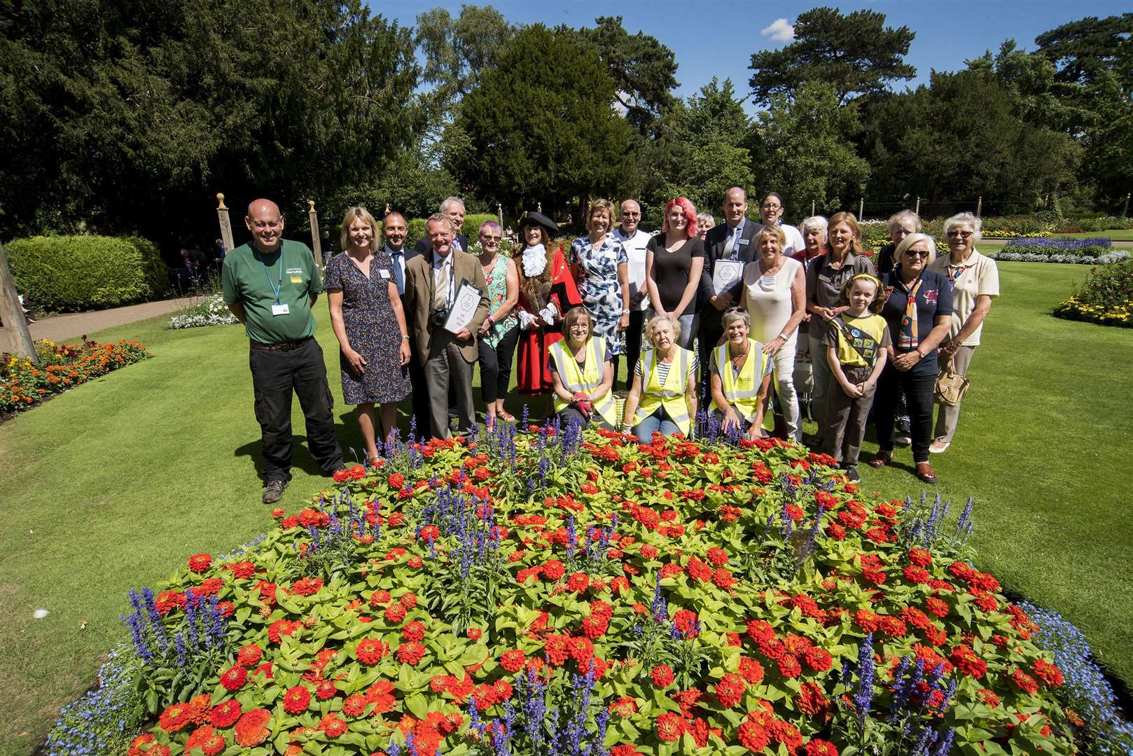 Britain in Bloom judges in Bury St Edmunds' Abbey Gardens. Picture: Mark Westley.